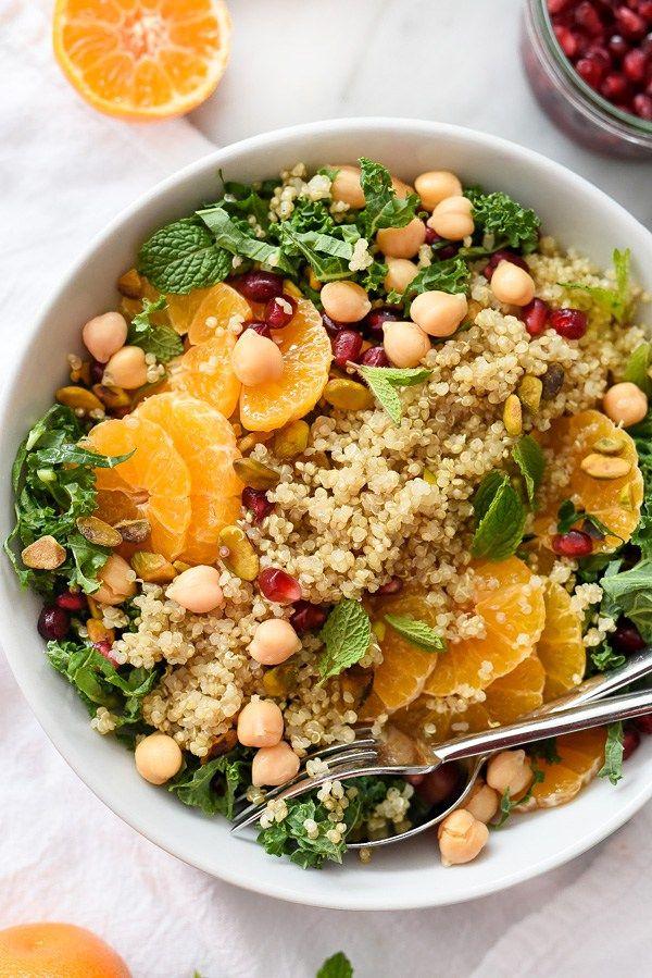 insalata proteica di quinoa e cavolo