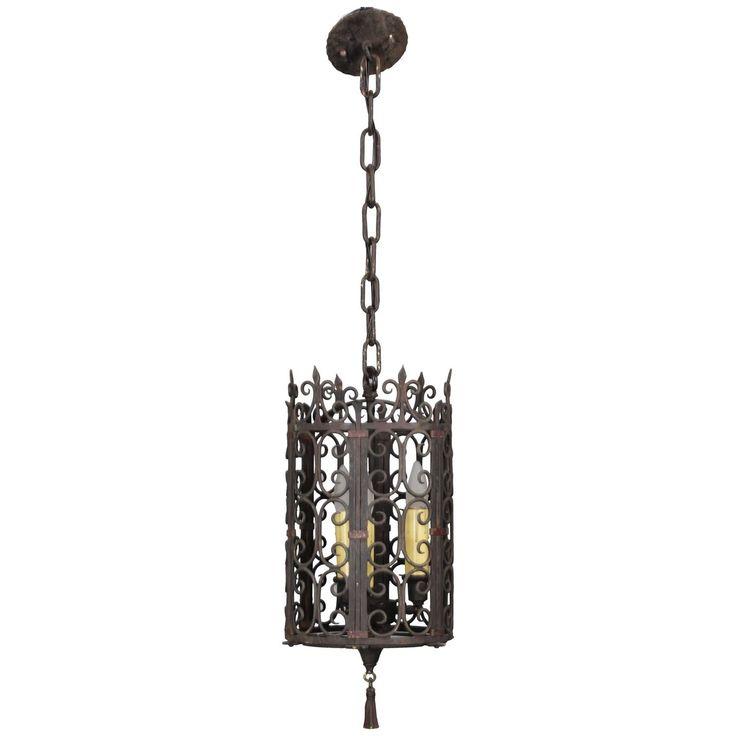1920s Spanish Revival Pendant Light