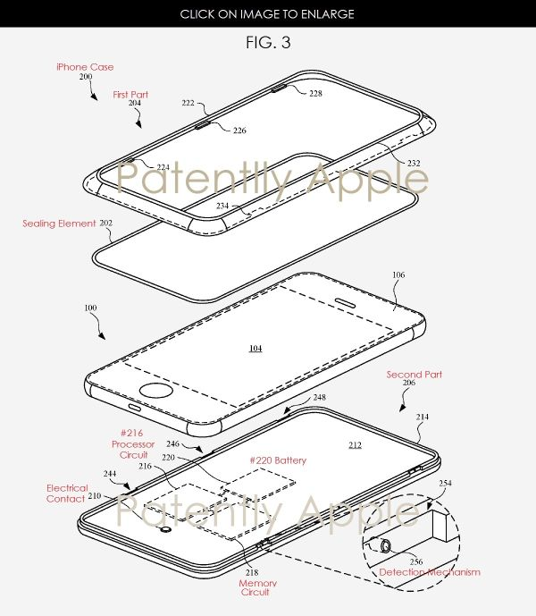Apple invents a Unique Air-Tight Protective Case for Future iPhones with a Smart Communications Component  Yesterday the US Patent & Trademark Office published a patent application from Apple that relates to a new kind of smart iPhone case that includes a …  http://www.patentlyapple.com/patently-apple/2017/03/apple-invents-a-unique-air-tight-protective-case-for-future-iphones-with-a-smart-communications-component.html