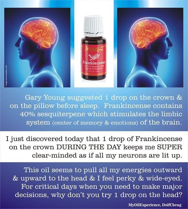 Frankincense 1 Drop On The Crown And Pillow Before Sleep
