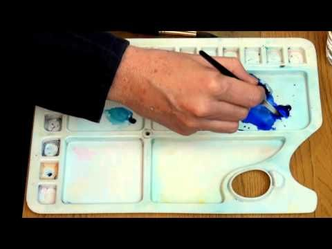 How to Use Gum Arabic for painting reflections in water