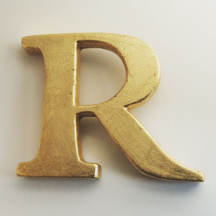 Gilded Wooden letters to order. Wall hanging. Vintage initial R #inspiration #wallart #wall #art #woodenletters #gold #gilded #wood #Oltrarno #florence #decor