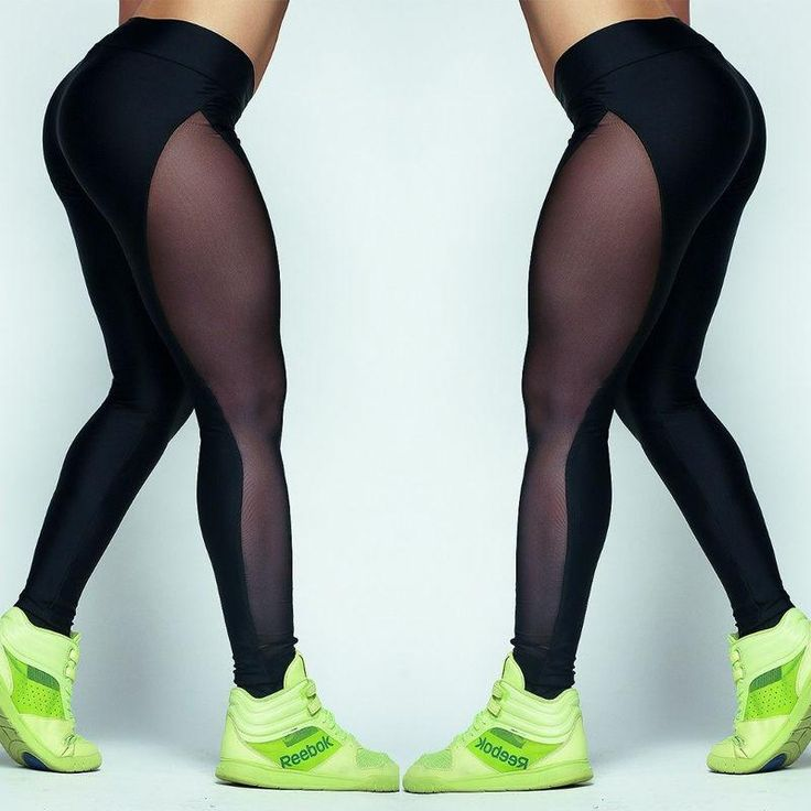 New Women YOGA Sports Running Pants Slim Mesh Leggings Stretch Fitness Trousers