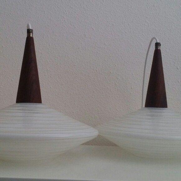 Philips Holland Danish style 50s 60s pendant lights