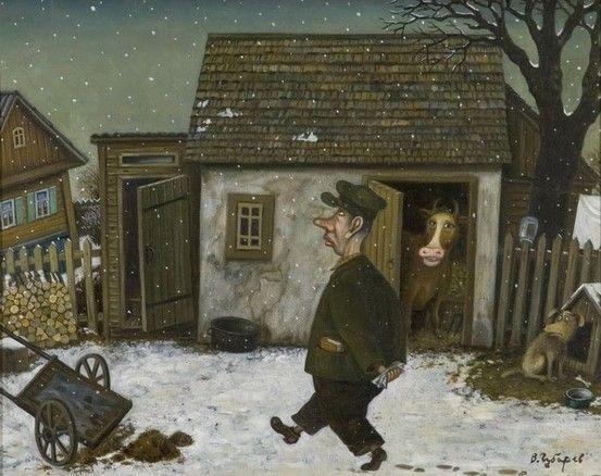 by Valentin Gubarev (b1948 In Nizhny Novgorod) | Обдумывая теорию Фюргейм