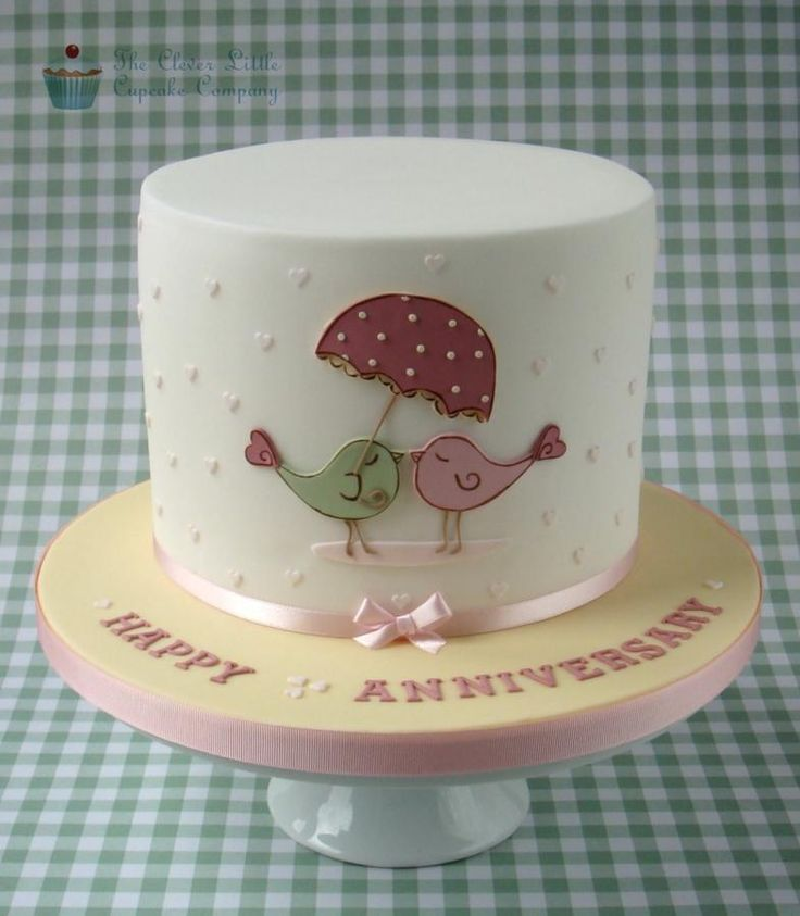 Love Bird Anniversary Cake - Cake by The Clever Little Cupcake Company (Amanda Mumbray)