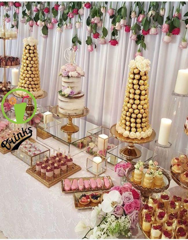 Ideas Para Armar Mesa Dulce Wedding Food Table Cake Table Decorations Wedding Cake Table Decorations