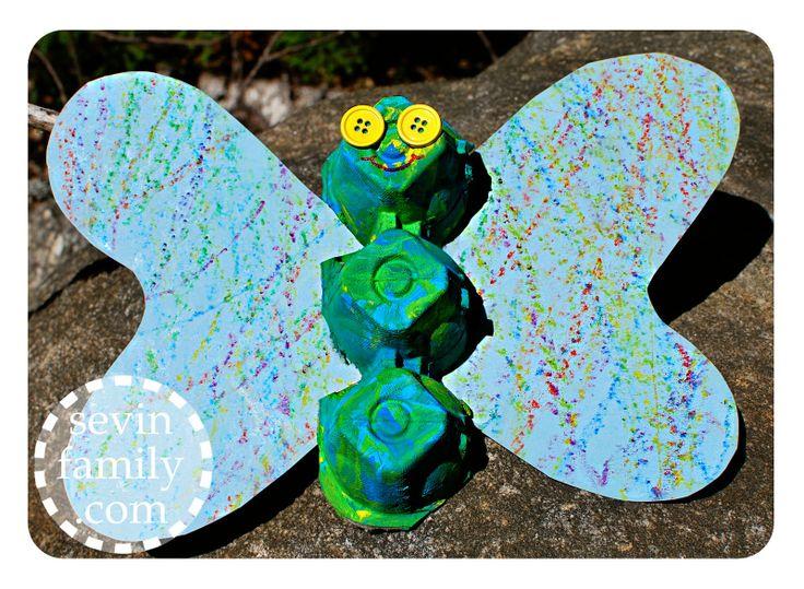 Sevin Family: Caterpillar Egg Carton Craft