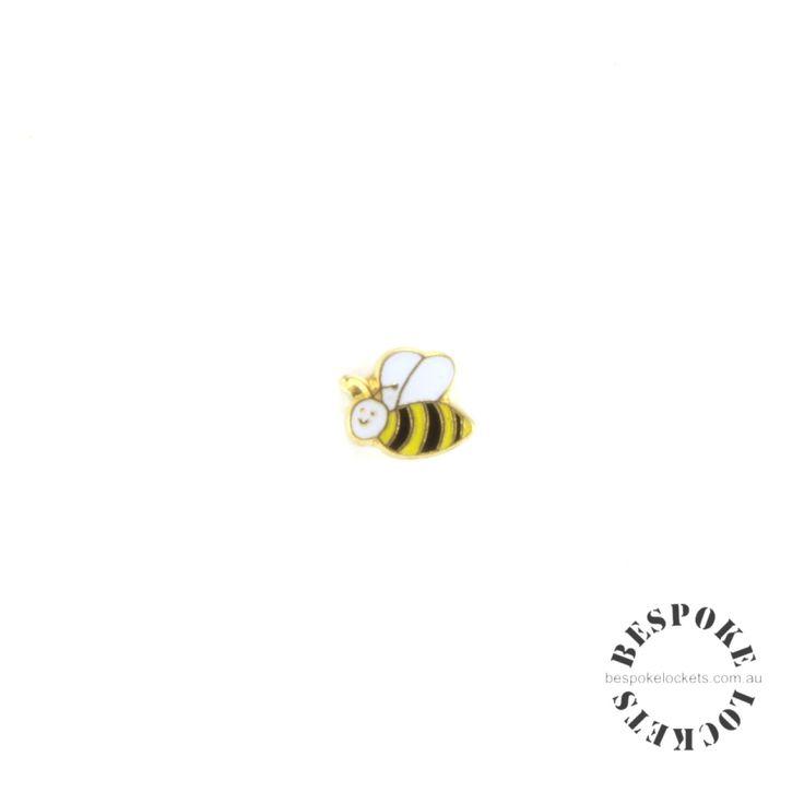 Golden Bee - Floating Charm