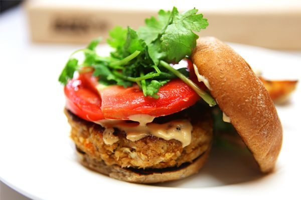 Thai Chicken Burgers with Hoisin Mayo and Potato Wedges | Blue Apron Blog