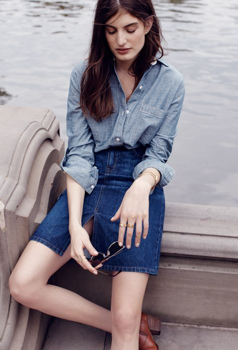 Madewell | Denim Shirt + Skirt