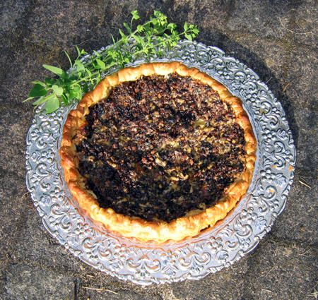 A recipe for mushroom pie from early 17th century
