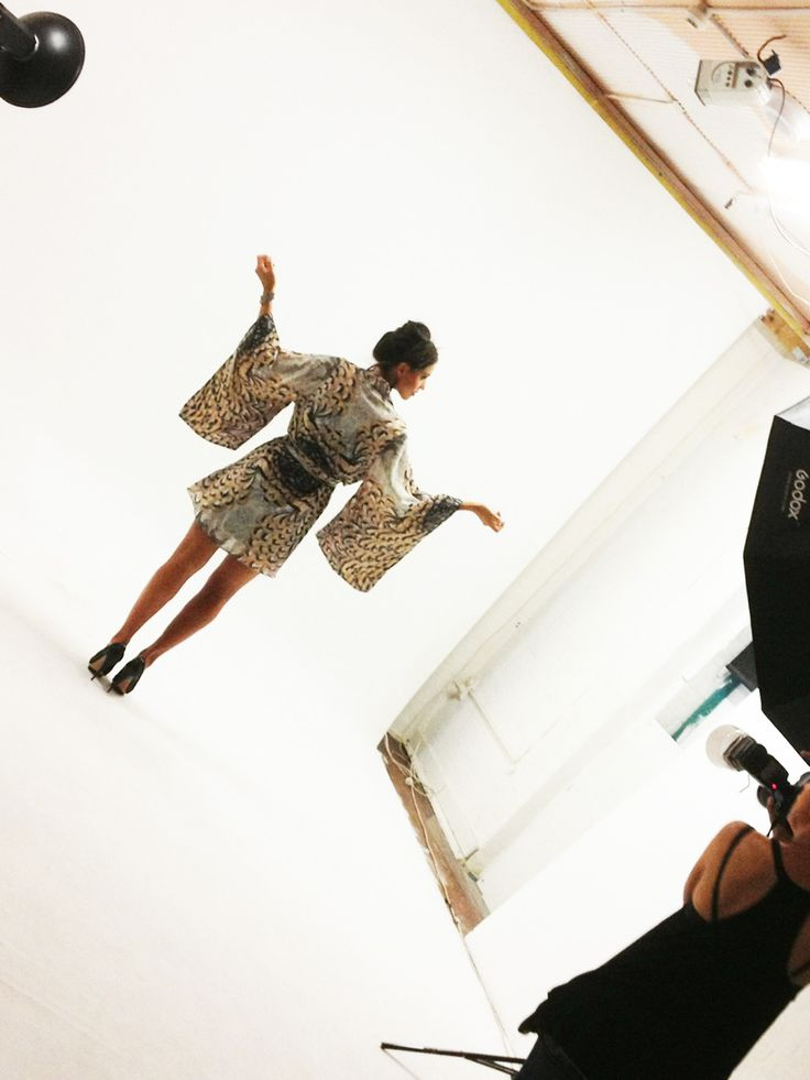 Behind the scenes…Featherly Kimono Dress