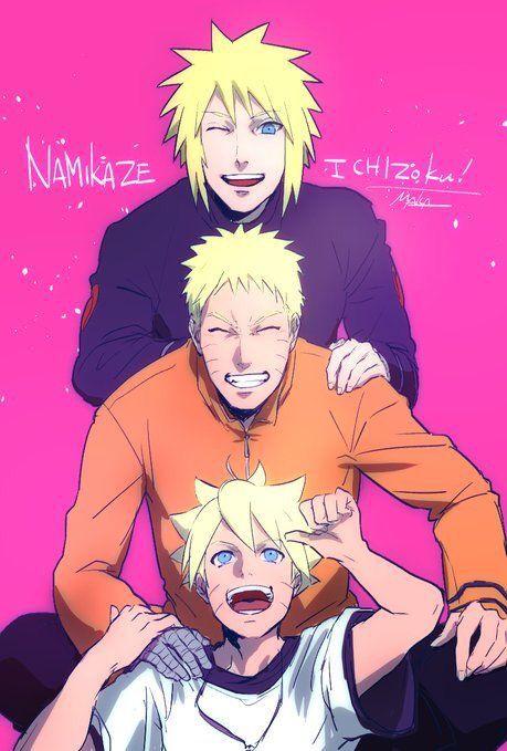 Minato, Naruto and Boruto | Uzumaki Family Generations