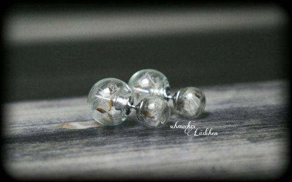 Doppel Perlen Ohrstecker aus Glas mit von byschmuckesLaedchen