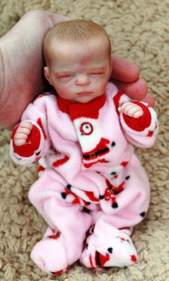 Miniature Reborn Baby Doll From The Marley By