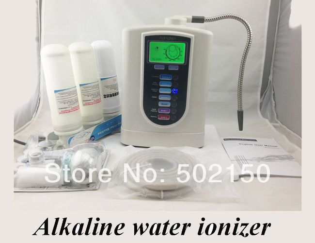 one alkaline water ionizer model WTH-803 and one nano water flask