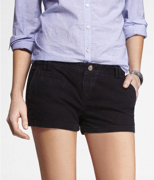 "Express Womens 2"" Trouser Shorts Pitch Black, 8"