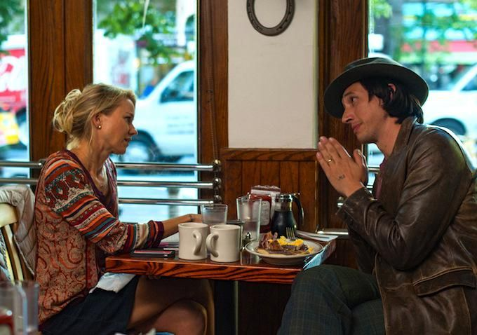 Adam Driver and Noami Watts in While Were Young.