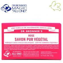 Dr. Bronner's Magic Soaps - Pain de Savon Pur Végétal Rose Disponible dans l'e-shop www.officina-paris.fr #officina #paris #eshopping #beaute #pain #barsoap #vegetal #solide #cosmetiques #savon #douche #gel #liquide #bio #naturel #fairtrade #drbronner #drbronners #magicsoap #soap #organic #vegan #equitable #argrumes #orange #citrus #fresh #rose #peppermint #menthepoivree #amande #arbreathe #teatree #eucalyptus #lavande #bebe #doux #sansparfum #babycare