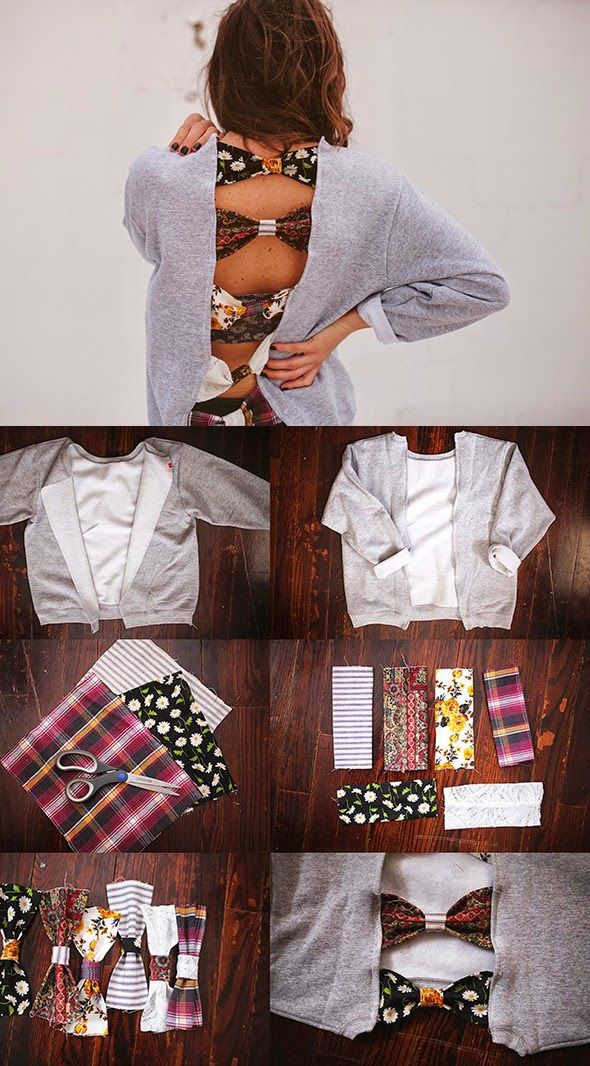How to Chic: DIY BOW BACK JUMPER
