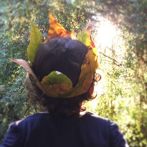 Herbstkrone aus Platanenblätter (DIY) ganz einfach selbst gemacht