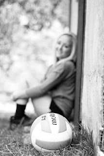 Senior pictures.. Except with a softball :)