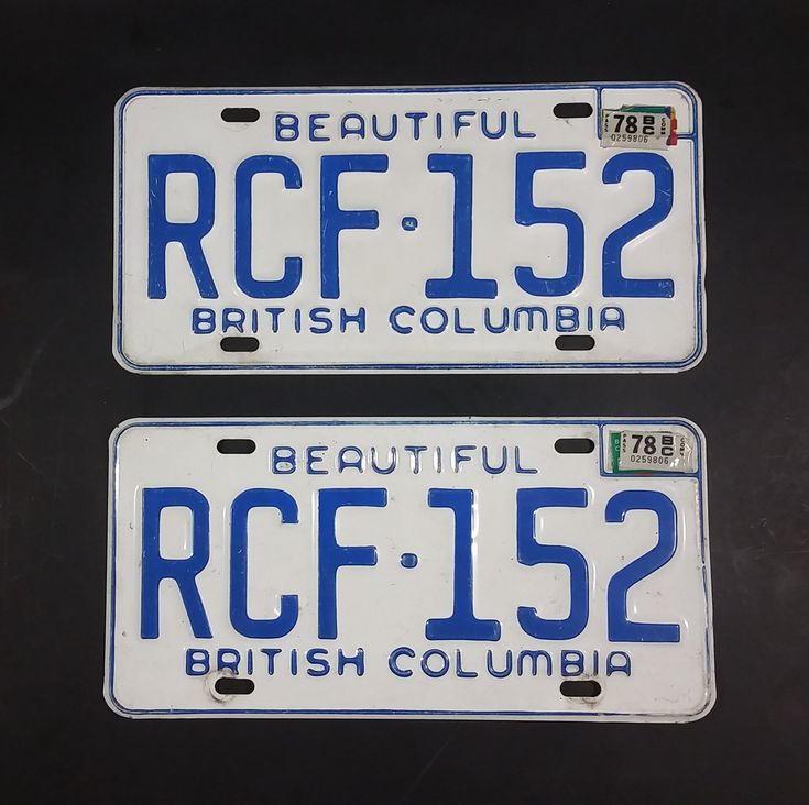 1978 Beautiful British Columbia White with Blue Letters Vehicle License Plate Set of 2 RCF 152 https://treasurevalleyantiques.com/products/1978-beautiful-british-columbia-white-with-blue-letters-vehicle-license-plate-rcf-152 #Vintage #1970s #70s #Seventies #BeautifulBC #BritishColumbia #Canada #Canadian #LicensePlates #Vehicles #Autos #Automobilia #Mancave #Garage #Collectibles #Cars