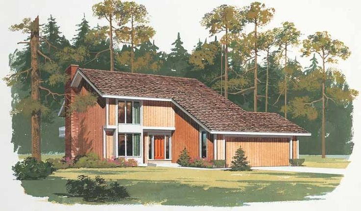 Eplans Shed House Plan - Rustic Contemporary - 1999 Square Feet and 3 Bedrooms from Eplans - House Plan Code HWEPL00540