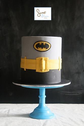 Deconstructed Batman cake