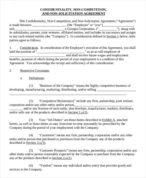 Non Compete Agreement Template Non Compete Agreement Free Template Word Pdf By Www Wonder Legal The Business Template Contract Template Templates