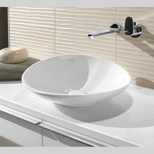 411045R1 Villeroy & Boch  V&B Ny Nature Toppmontert servant Ø450 mm, Alpinhvit m/Ceramic Plus