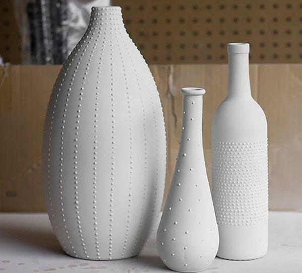 Piensa verde recicla y remodela tus botellas y jarrones for Decoracion de jarrones
