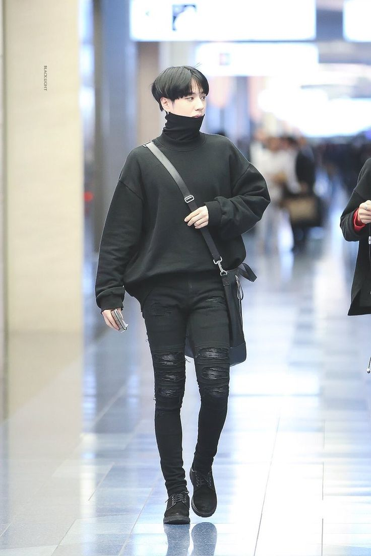 perfect kpop outfit male 2019 black