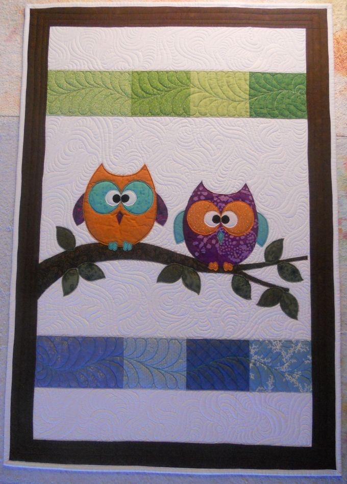 89 best Sewing - owl patterns images on Pinterest | Stitching ... : baby quilt owl pattern - Adamdwight.com