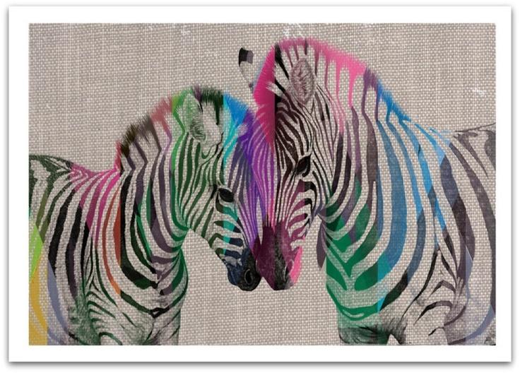 Diamond Zebra and Foal - hardtofind.