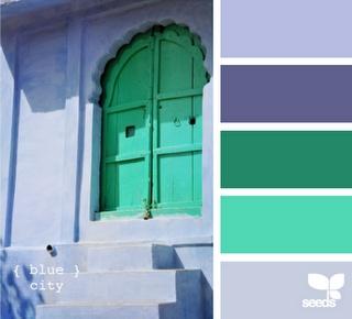 blue walls, green doorColors Combos, Design Seeds, Bedrooms Colors, Blue Cities, Blue Bedrooms, Colors Palettes, Wedding Colors, Colors Schemes, Colours Palettes