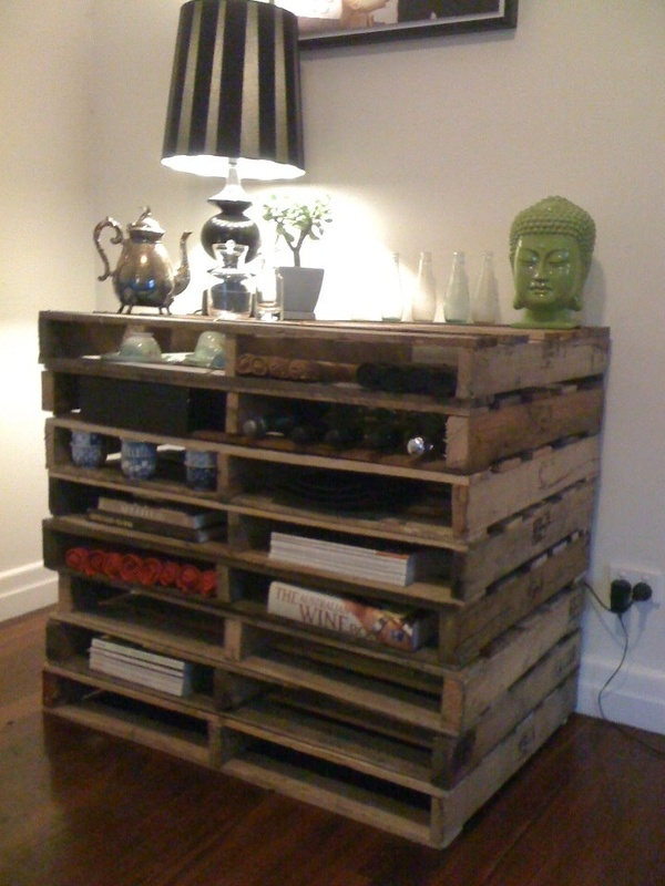 Sideboard I made from pallets I found on the side of the road tiffanylallen