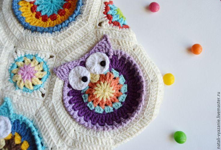 Купить Сумка с совами вязаная - разноцветный, сумка, сумка ручной работы, вязаная сумка, совы