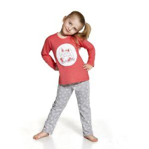 De Cornette Sweet Bunny 2 kinderpyjama van Corazonkids grijs met stippel broek. De Cornette kinderpyjama van CorazonKids met een stippel broek is erg mooi en hip.. Het shirt heeft een leuke opdruk. De Cornette kinderpyjama van CorazonKids is van goede kwaliteit.