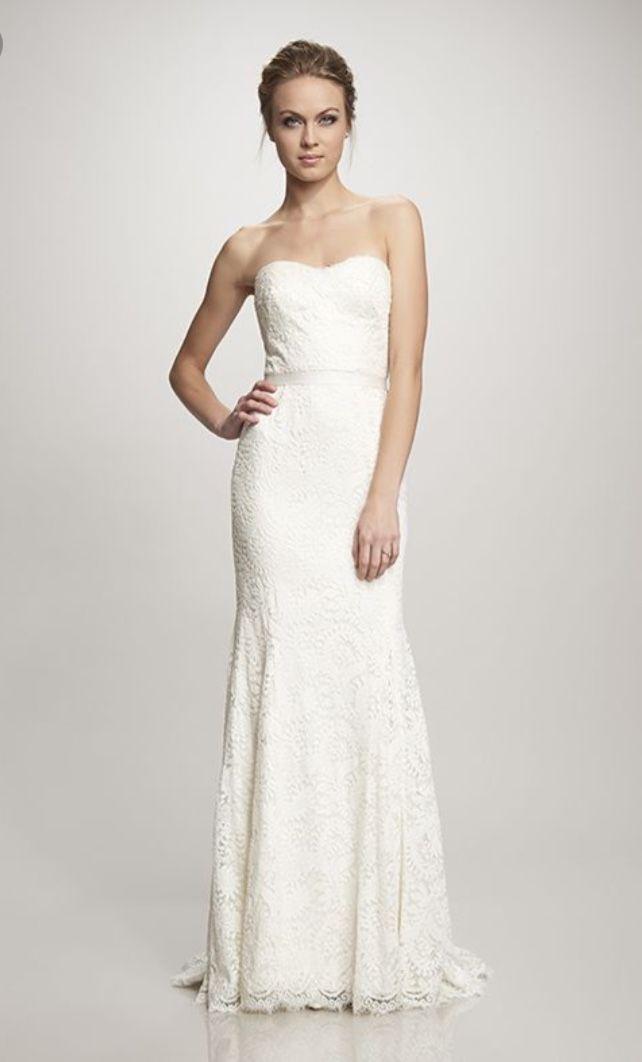 13f334e9b6c7 New markdown $650:Theia sample dress.$750 (original price $1,495) US 8. A  strapless, sweetheart neckline sheath/slight mermaid style all over lace  dress. ...