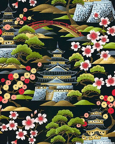 Pagoda Retreat - Quilt Fabrics from www.eQuilter.com  Great fabric for this One block Wonder!