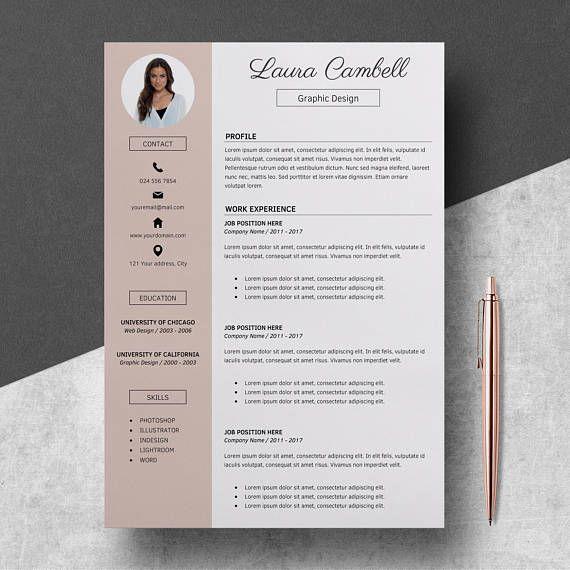 Modern Resume Template Cv Template For Ms Word Professional Resume Design Resume Cover Letter Resume Instant Download Modern Resume Template Resume Template Professional Resume Design Template