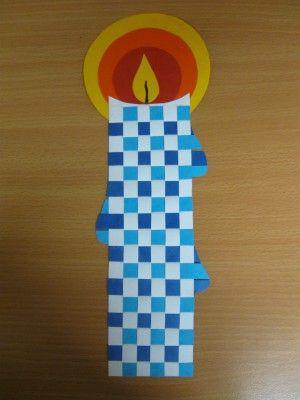 Svíčka - tkaní z proužků papíru