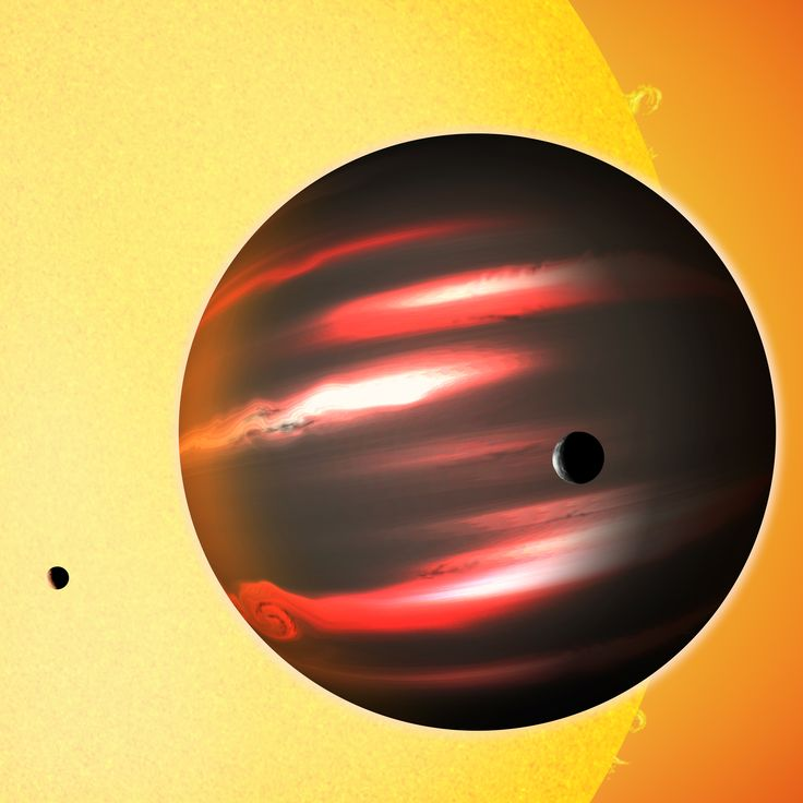 "As of 2012, TrES-2b is the darkest known exoplanet, reflecting less than 1% of any light that hits it. It is a ""hot Jupiter"" with about 1.2 times Jupiter's mass (381 times the mass of Earth)."