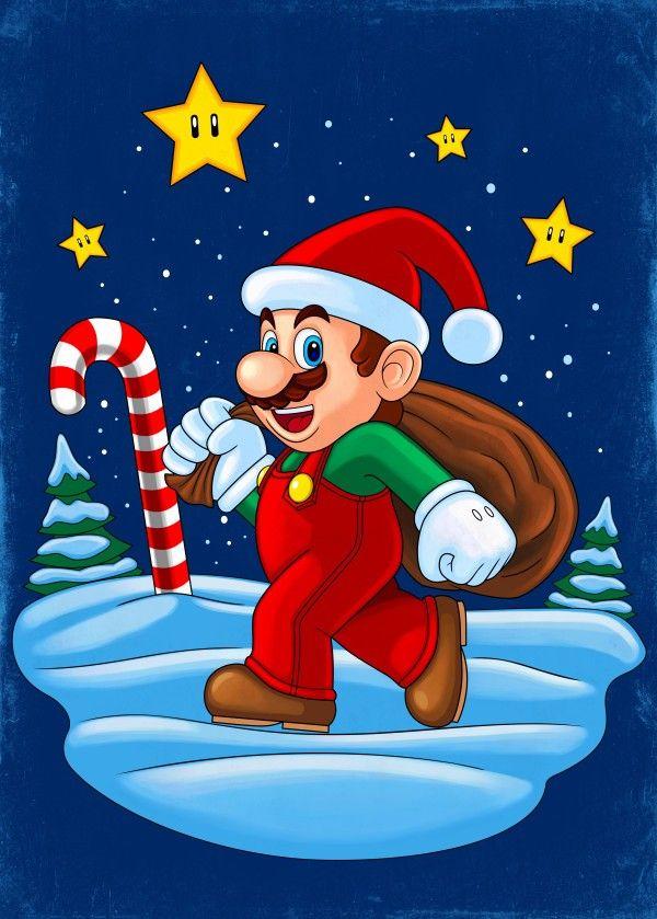 Mario Xmas - Christmas themed design with Mario dressed as Santa Claus   https://displate.com/displate/235510   super mario, santa claus, xmas, christmas   #mario #mariobros #supermario #supermariobros #marioworld #xmas #santaclaus #christmas #gaming #graphicdesign