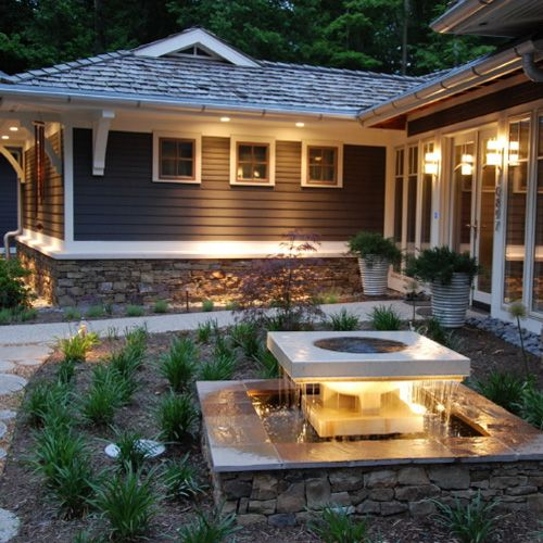 Someday Iu0027d Like To Install Pot Lights In The Eaves Of The House And ·  Patio LightingExterior LightingLighting DesignLighting IdeasOutdoor ...
