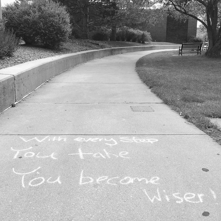 Saw a nice inspirational quote on the sidewalk after the volunteer orientation for DCC17 at Aurora Campus. #streetphotography #denver #aurariacampus #inspirationalquotes #blackandwhitephotography #blackandwhitephoto