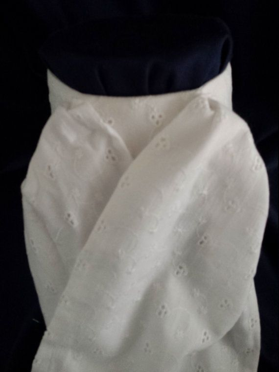 Equitique Stock Tie Dressage Eventing jumpers pony hunter derby pre-tied fancy off white eyelet horse show equestrian riding clothes