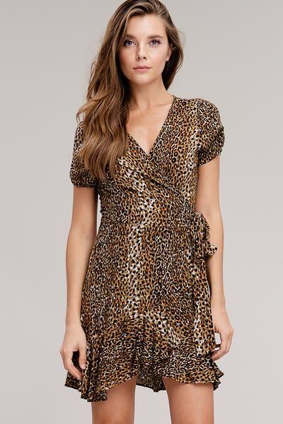 dcaa38567e6c Leopard Print Wrap Mini Dress -  leoparddress  leopardprintdress   leopardtrend2018  falldresses
